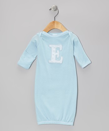 Baby Blue Initial Gown - Infant