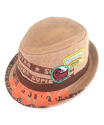 Tan & Orange Surfer Fedora