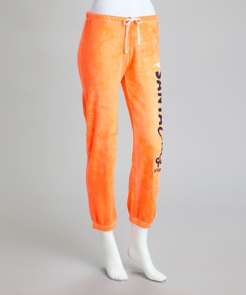 Orange Burnout Sweatpants