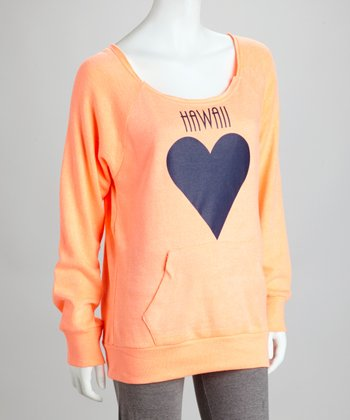 Orange Heart Sweatshirt