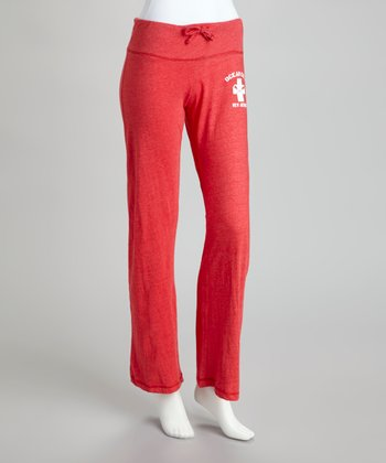 Red 'Ocean City' Lounge Pants