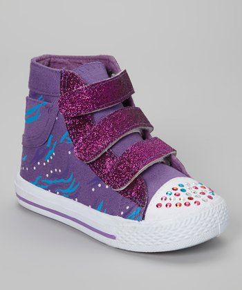 Purple Adjustable Hi-Top Sneaker