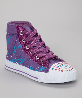 Purple Hi-Top Sneaker