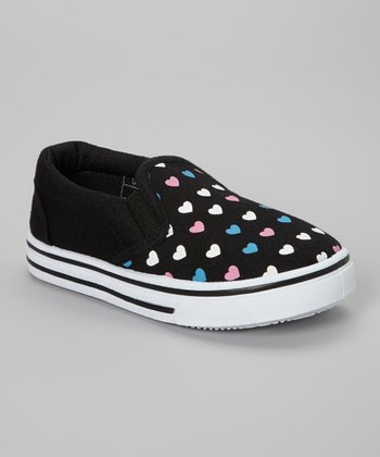 Black Heart Slip-On Sneaker