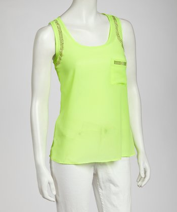 Neon Lime Pocket Tank