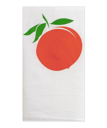 Peach Flour Sack Tea Towel