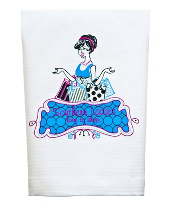 'Southern Ladies' Shopping Tea Towel