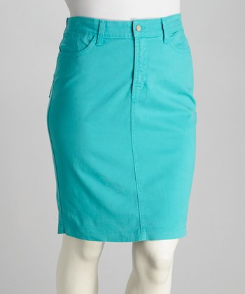 Aquamarine Emma Plus-Size Skirt