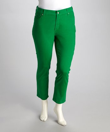 Clover Green Alisha Plus-Size Skinny Cropped Pants