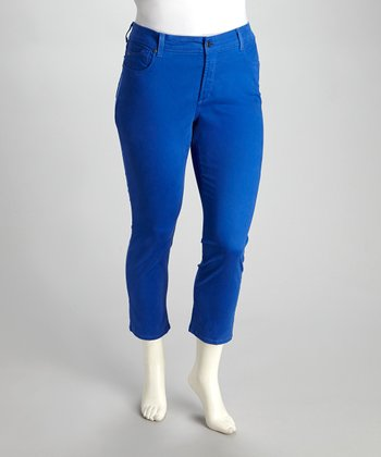 Bluebell Alisha Plus-Size Skinny Cropped Pants