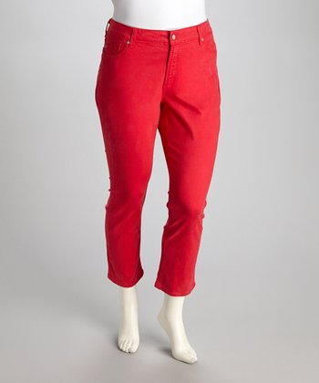 Pomegranate Alisha Plus-Size Skinny Cropped Pants