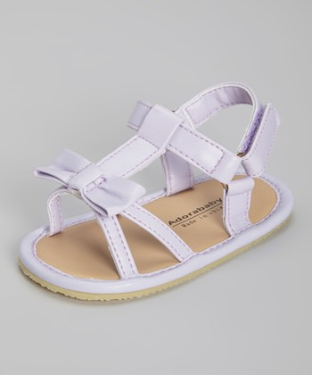 Purple Bow T-Strap Sandal
