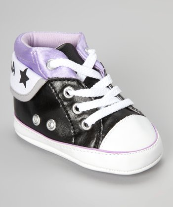 Black & Purple Hi-Top Sneaker