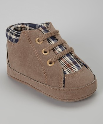 Coffee Plaid Sneaker