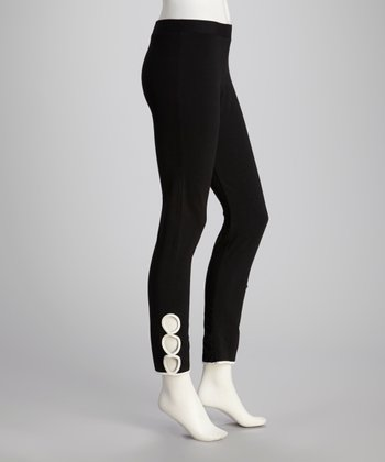 Black Circulos Yoga Pants