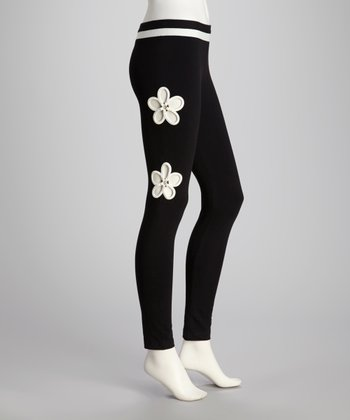 Black Margarida Yoga Pants