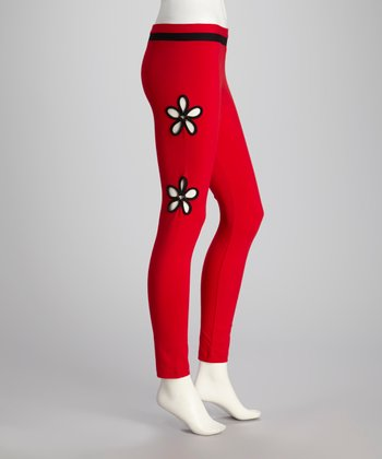 Red Margarida Yoga Pants