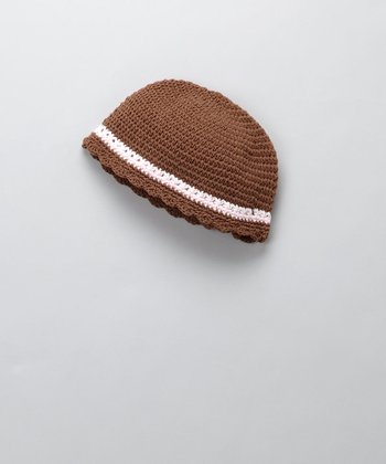 Brown & Pink Flapper Beanie - Infant & Toddler