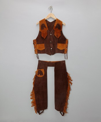 Brown & Rust Vest & Chaps - Toddler & Kids