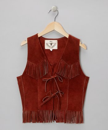 Rust Fringe Vest - Toddler & Kids