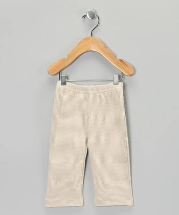 Brown Stripe Organic Pants - Infant