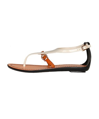 White & Brown Sandal