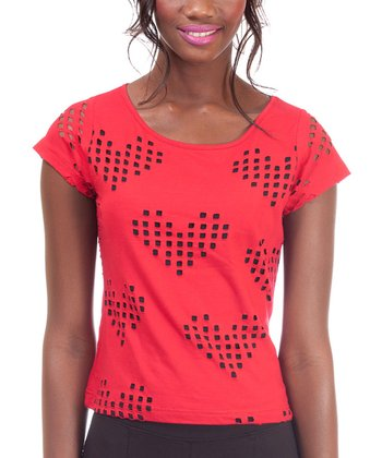 Red Heart Connie Short-Sleeve Top