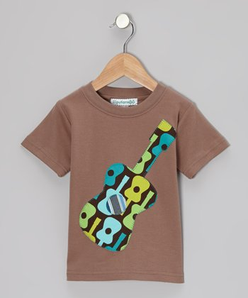 Brown Guitar Appliqué Tee - Infant, Toddler & Boys