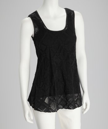 Black Diamond French Lace Sleeveless Top
