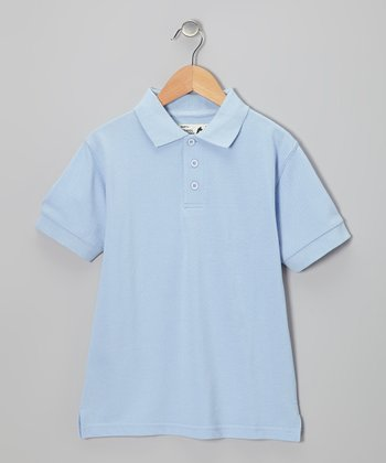 Light Blue Polo - Boys
