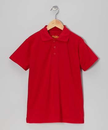 Red Polo - Boys