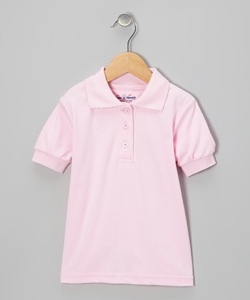Pink Polo - Girls