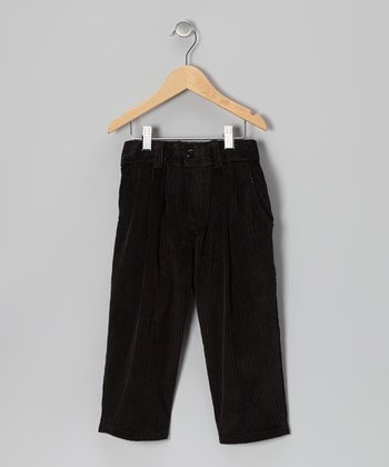 Black Corduroy Pants - Boys