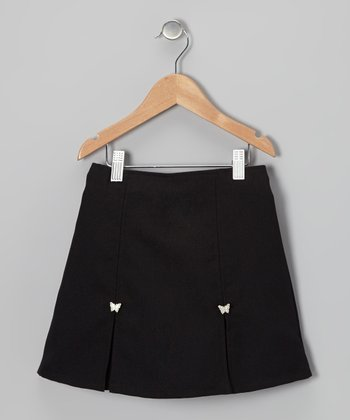 Black Butterfly Skort - Girls