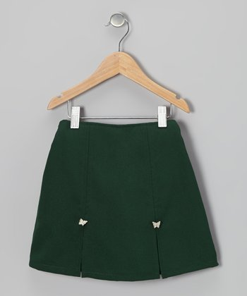 Green Butterfly Skort - Girls