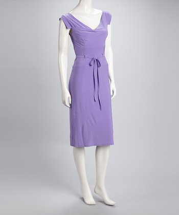 Lilac Cap-Sleeve Dress