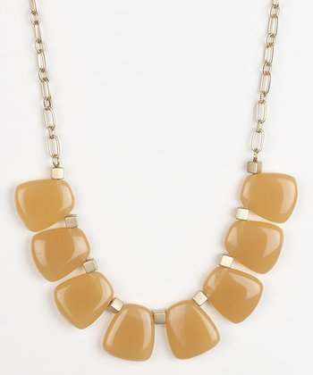 Camel Pebbles Station Necklace