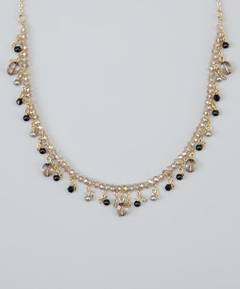 Black Crystal Pearl Necklace