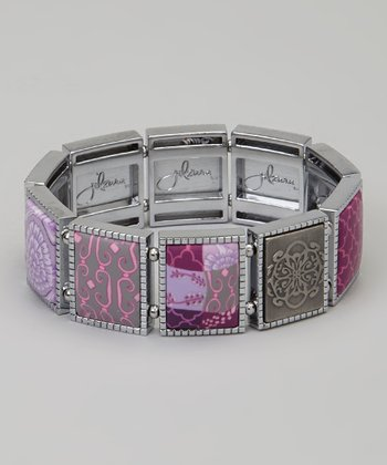 Lilac Square Stretch Bracelet
