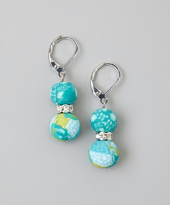 Lime & Crystal Earrings