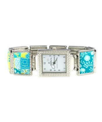 Lime Square Stretch Watch