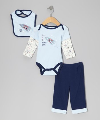 BF From Brooks Fitch Navy Blast Off Bodysuit Set