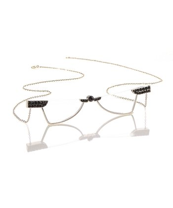 Silver & Jet Necklace Reader