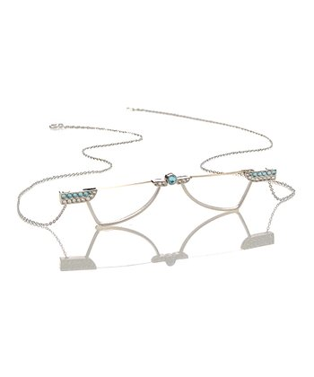 Silver & Light Blue Necklace Reader