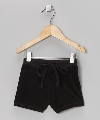 Black Terry Shorts - Toddler & Girls
