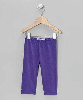 Purple Capri Leggings - Toddler & Girls