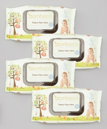 Naturals Organic Bamboo Baby Wipe Pack - Set of Four