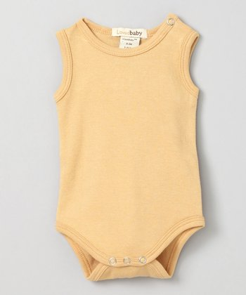 Show-and-Tell Caramel Sleeveless Bodysuit - Infant