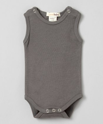 Clay Gray Sleeveless Bodysuit - Infant