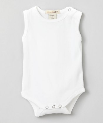 Bright White Sleeveless Bodysuit - Infant
